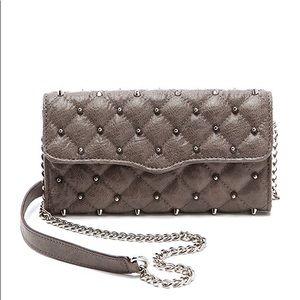 Rebecca Minkoff Diamond Quilt & Stud Wallet Chain